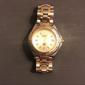 Men's FOSSIL Gold and Silver Tone Watch